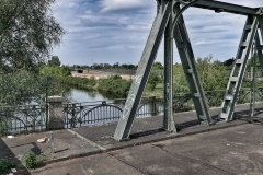 Disused bridge across the old east-west border, Teltow Canal