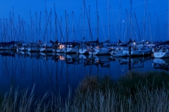 Night scene, Vitte, Island of Hiddensee