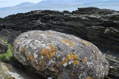 Stone egg, with Arran in the background