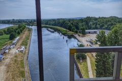 Looking down from the Ship Lift, Niederfinow